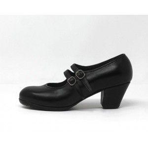 Manuela 39,5 AA Leather Black Cubano 5 Covered 1713