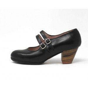 Manuela 40,5 AA Leather Black Cubano 5 Exposed 4074