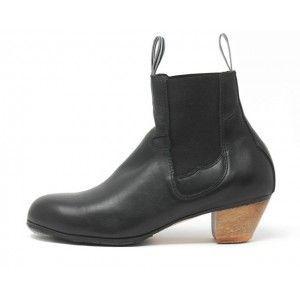 Bota (Woman) 37 AA Leather Black Cubano 5 Exposed 3448