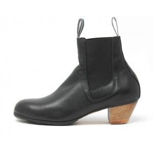 Bota (Woman) 37 A Leather Black Cubano 5 Exposed 3475