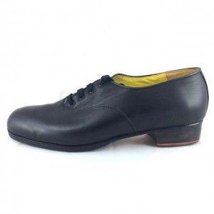 Carácter 44,25 A Leather Black Flat Heel Exposed 4618