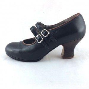 Manuela 37,5 A+PR Leather Negro/Camel Carrete 6 Exposed 3516