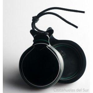 Del Sur Castanets: Capricho Black. Grain White And Green Nº5