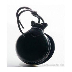 Del Sur Castanets: Jota Black Cloth. Pinstripe White And Green. Nº5