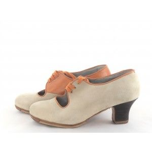 Carmen 36 A Suede/Leather Cream/Terracota Carrete 5 Exposed 4330