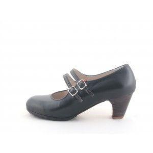 Manuela 38 A+PR Leather Negro Clasico 5 Exposed 4453
