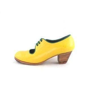 Carmen 37 A+PR Leather Banana/Green Cubano 5 Exposed 4643