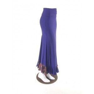 QToma: Skirt Básica - 1 Volante - Print Blue XS