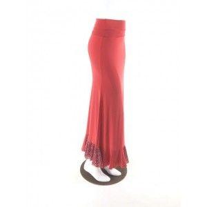 QToma: Skirt Básica - 1 Volante - Print Red XS