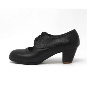 Carmela 38,75 AA+PR Leather Black/Serpentine Black (Back) Cubano 5 Exposed