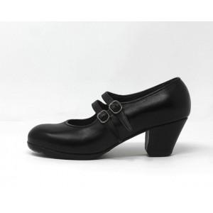 Manuela 39 A Leather Black Cubano 3,5 Covered 5020
