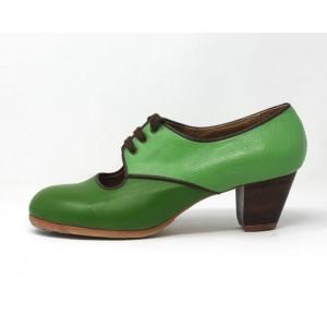 Carmela 39,5 A+PR Leather Green Cubano 5 Exposed Back Coco Apple P. Chocolate
