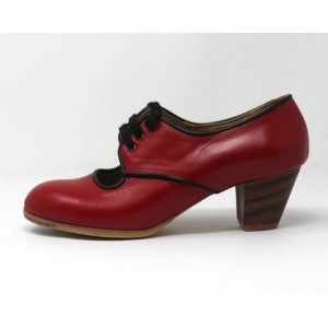 Carmela 38,5 AA+PR Leather Red Cubano 5 Exposed P. Black